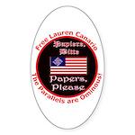 Free Lauren-2 Oval Sticker