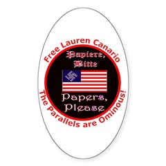 Free Lauren-2 Oval Sticker (10 pk)