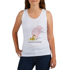 Incontinent Spending Piggy Bank Women's Tank Top