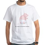Diaper Incontinent Spending White T-Shirt
