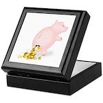 Incontinent Piggy Bank Keepsake Box
