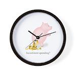 Incontinent Spending Piggy Bank Wall Clock