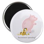 Incontinent Spending Piggy Bank Magnet