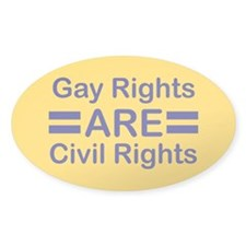 Gay Rights Oval Sticker (50 pk)