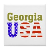 Georgia USA Tile Coaster