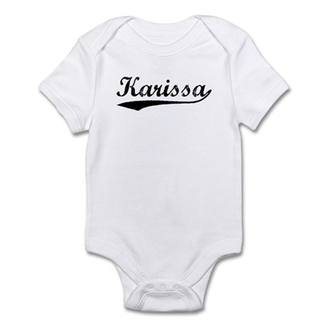 Vintage Karissa (Black) Infant Bodysuit