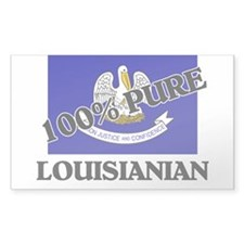 100 Percent Louisianian Rectangle Decal