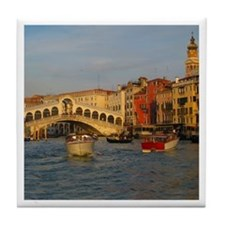 Venice Italy, Rialto Bridge photo- Tile Coaster