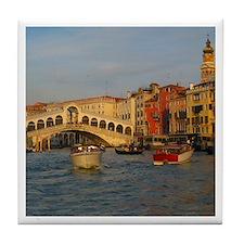 Venice Italy, Rialto Bridge photo- Tile Coaster