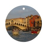 Venice Italy, Rialto Bridge photo- Ornament (Round