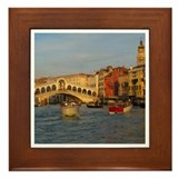 Venice Italy, Rialto Bridge photo- Framed Tile