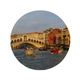 "Venice Italy, Rialto Bridge photo- 3.5"" Button (10"