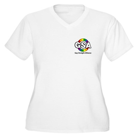 GSA Pocket ToonA Women's Plus Size V-Neck T-Shirt