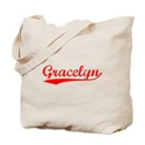 Vintage Gracelyn (Red) Tote Bag