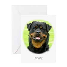 Rottweiler 9W025D-037 Greeting Card