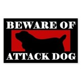 Beware of Attack Dog Sussex Spaniel Decal