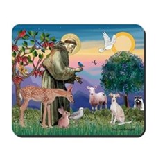 St Francis / Ital Greyhound Mousepad