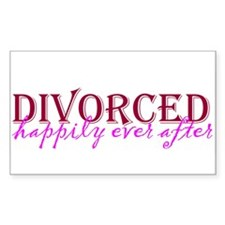 Divorced Rectangle Decal