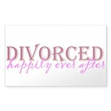 Divorced Rectangle Sticker 10 pk)