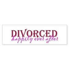 Divorced Bumper Bumper Sticker