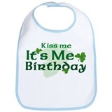 Kiss Me Irish Birthday Bib
