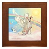 Clouds / Italian Greyhound Framed Tile