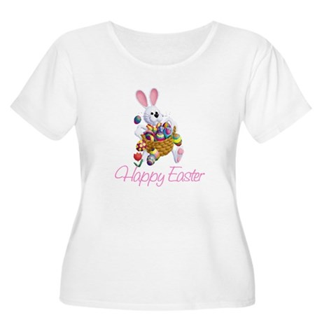 Happy Easter Bunny Women's Plus Size Scoop Neck T-