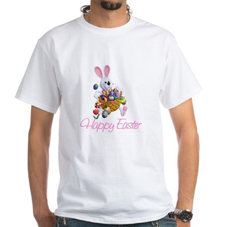 Happy Easter Bunny White T-Shirt