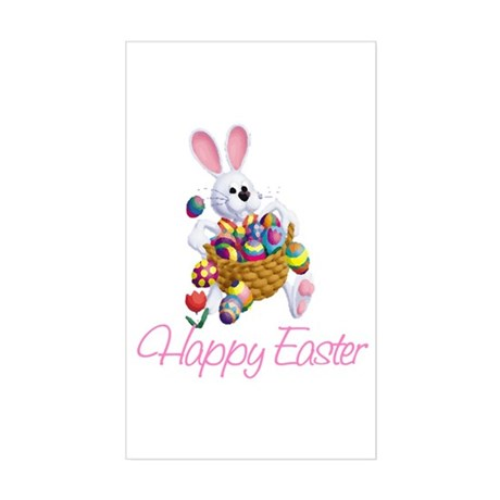 Happy Easter Bunny Rectangle Sticker