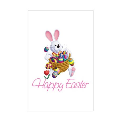 Happy Easter Bunny Mini Poster Print