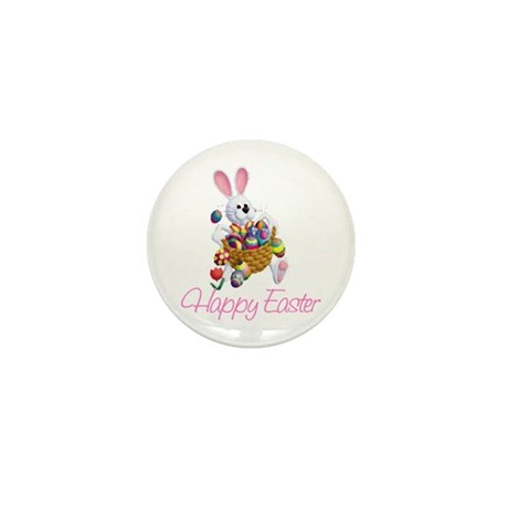 Happy Easter Bunny Mini Button (100 pack)
