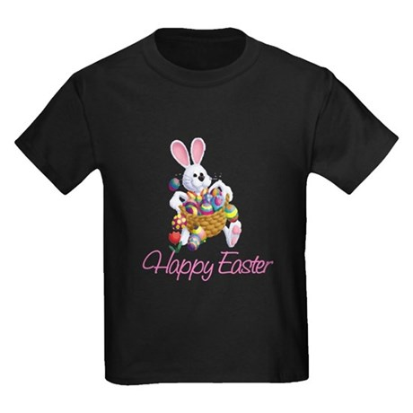 Happy Easter Bunny Kids Dark T-Shirt