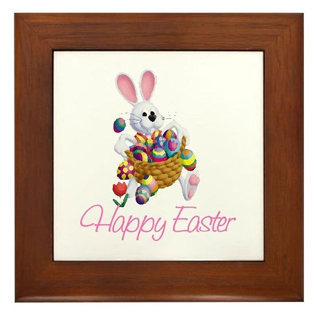 Happy Easter Bunny Framed Tile