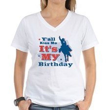 Kiss Me Cowboy Birthday Shirt