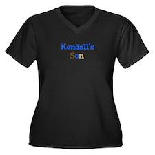 Kendall's Son Women's Plus Size V-Neck Dark T-Shir