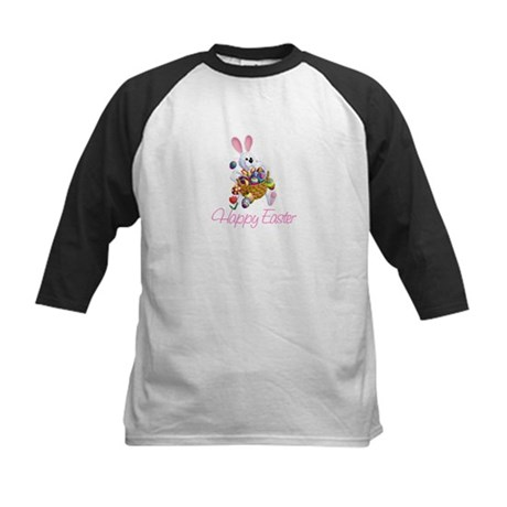 Happy Easter Bunny Kids Baseball Jersey