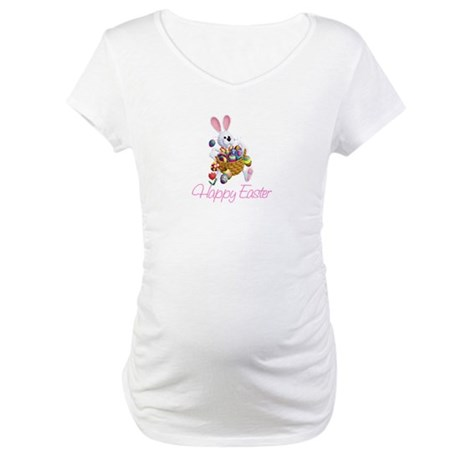 Happy Easter Bunny Maternity T-Shirt