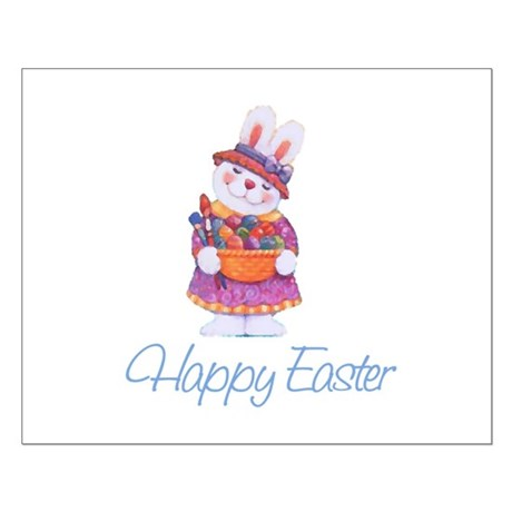 Happy Easter Bunny Small Poster