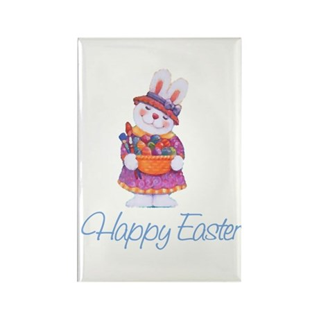 Happy Easter Bunny Rectangle Magnet (100 pack)