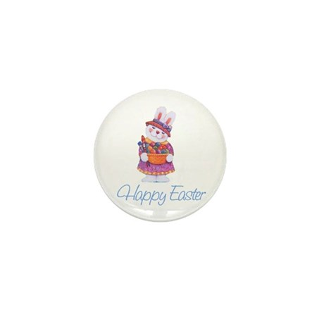 Happy Easter Bunny Mini Button