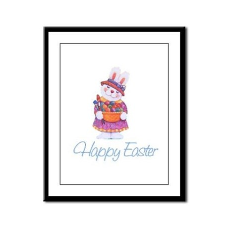 Happy Easter Bunny Framed Panel Print