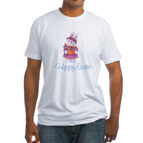 Happy Easter Bunny Fitted T-Shirt