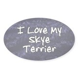 Funky Love Skye Terrier Oval Decal