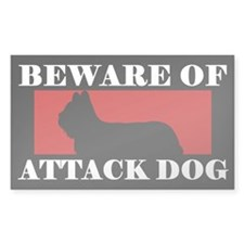 Beware of Attack Dog Skye Terrier Decal