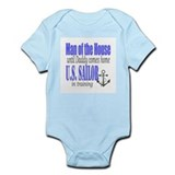 Navy Sailor Man of the house Infant Bodysuit