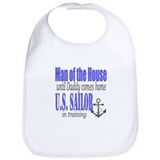 Navy Sailor Man of the house Bib