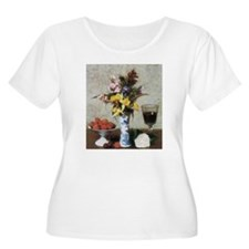 Famous Flowers painting by Fantin-Latour T-Shirt