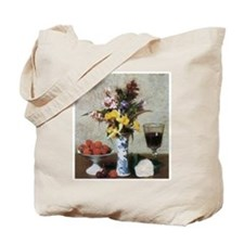 Famous Flowers painting by Fantin-Latour Tote Bag
