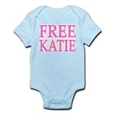 FREE KATIE - pink original Infant Creeper