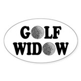 Golf Widow Oval Decal